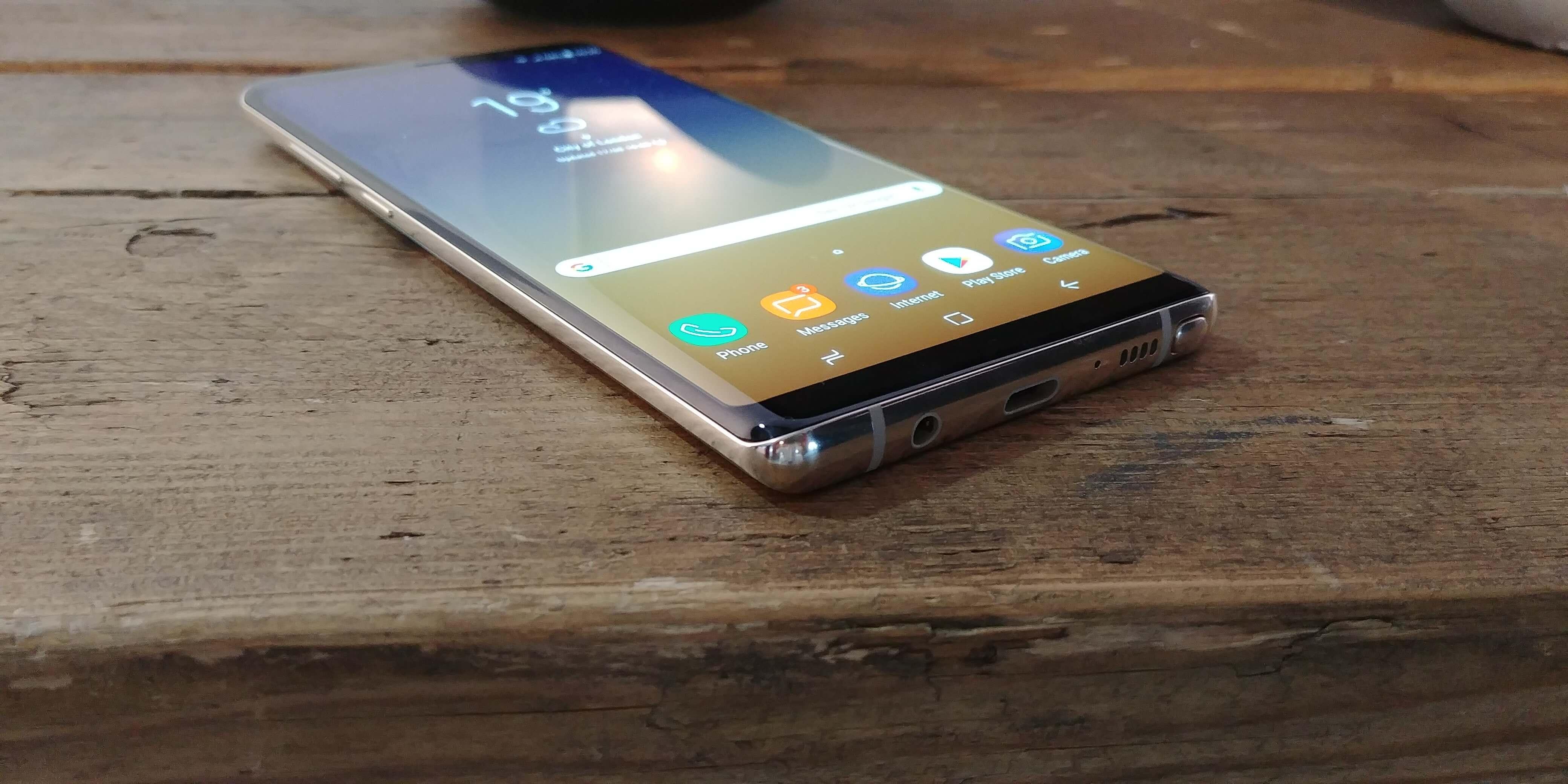 Diseño del Samsung Galaxy Note 8