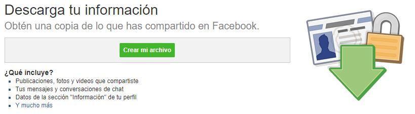 Pasos para la copia de seguridad de Facebook