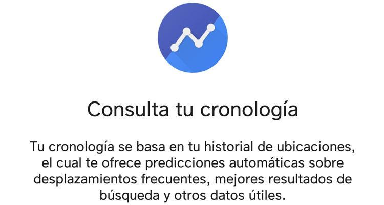Cronología en Google Maps
