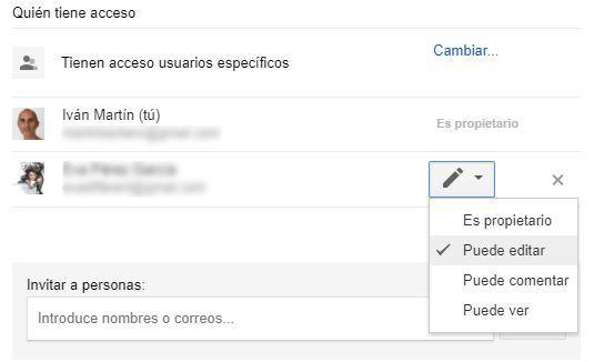 Propietarios en Google Drive