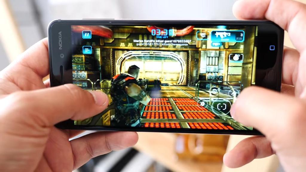 Ejecución de juego en el Nokia 6