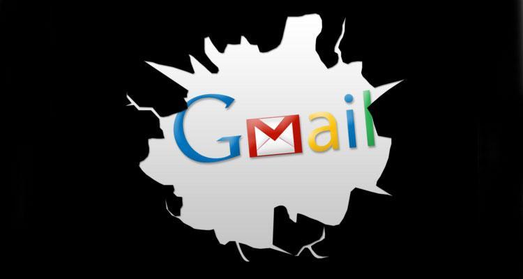 Logotipo de Gmail con fondo negro