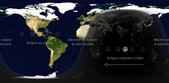 Mapa del eclipse 2017 lunar