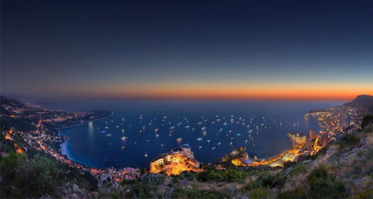 Atardecer en Mónaco