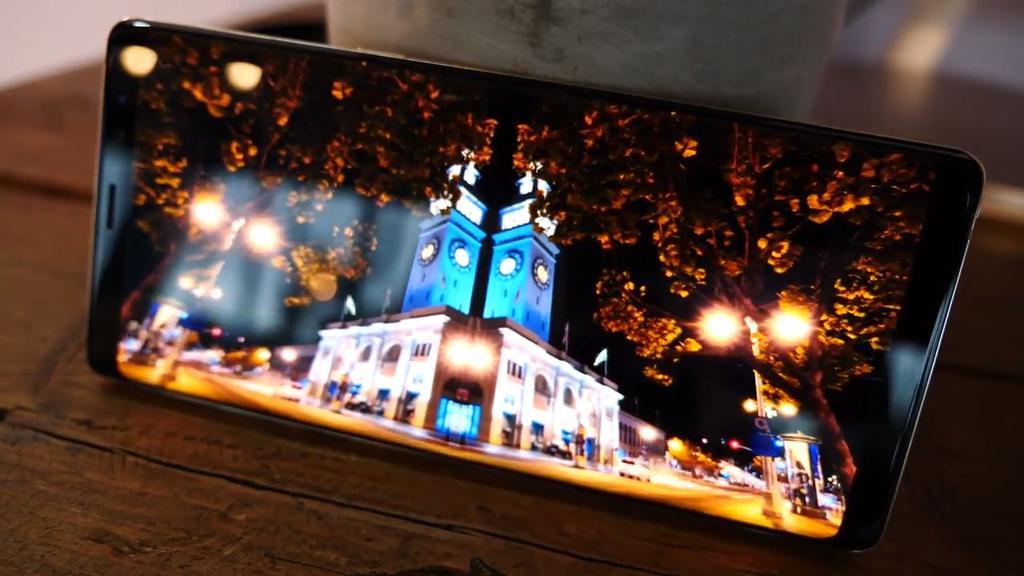 Calidad de la pantalla del Samsung Galaxy Note 8