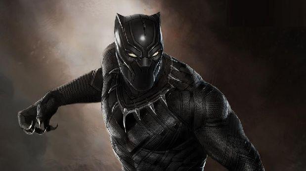 Pantera Negra de Marvel con fondo marron