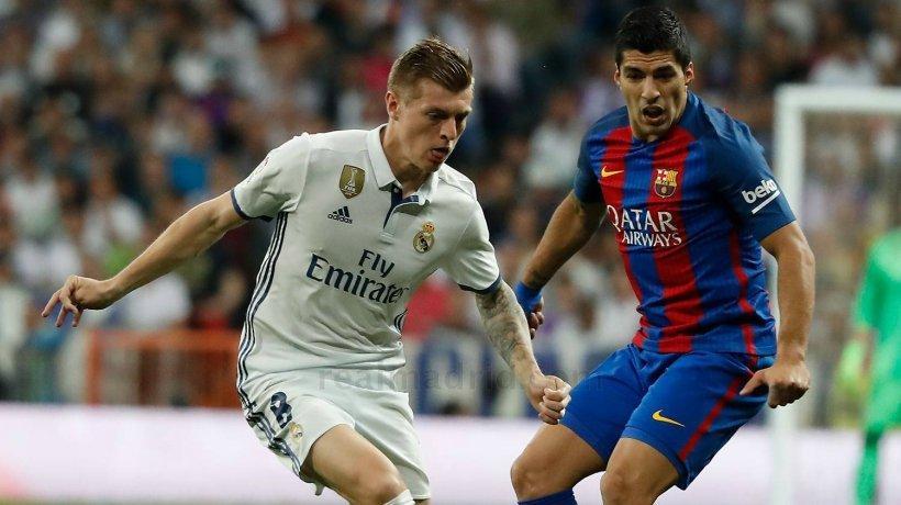 Kroos y Luis Suarez del Real Madrid y Barcelona