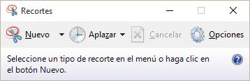 Aplicación Recortes de Windows 10