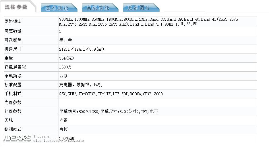 Características del Samsung Galaxy Tab A 8.0