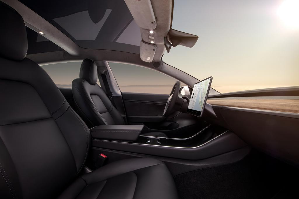 Espacio interior del Tesla Model 3