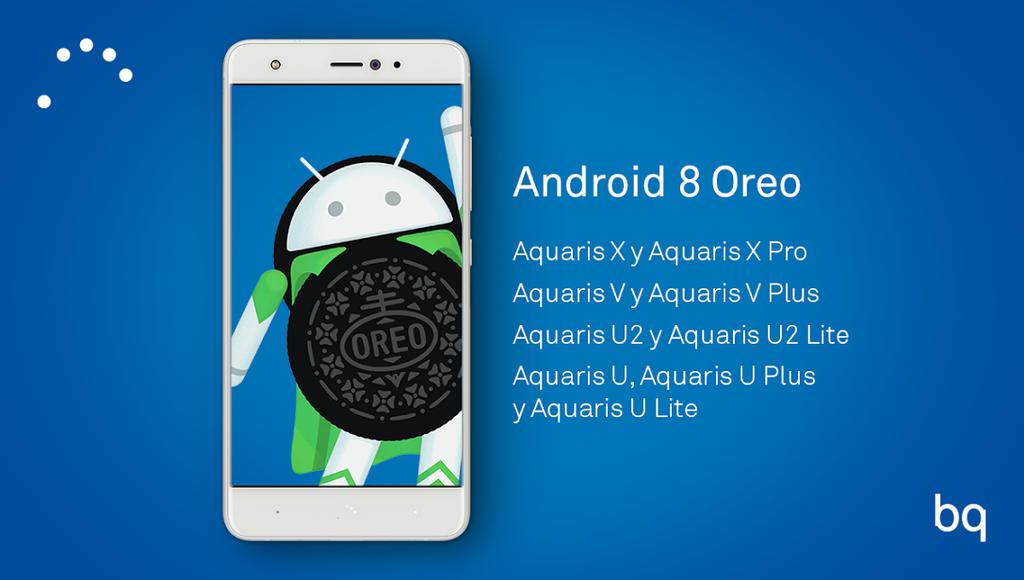 Teléfonos de BQ que actualizarán a Android Oreo