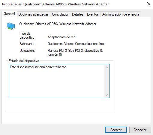 Opciones avanzadas WiFi en Windows 10