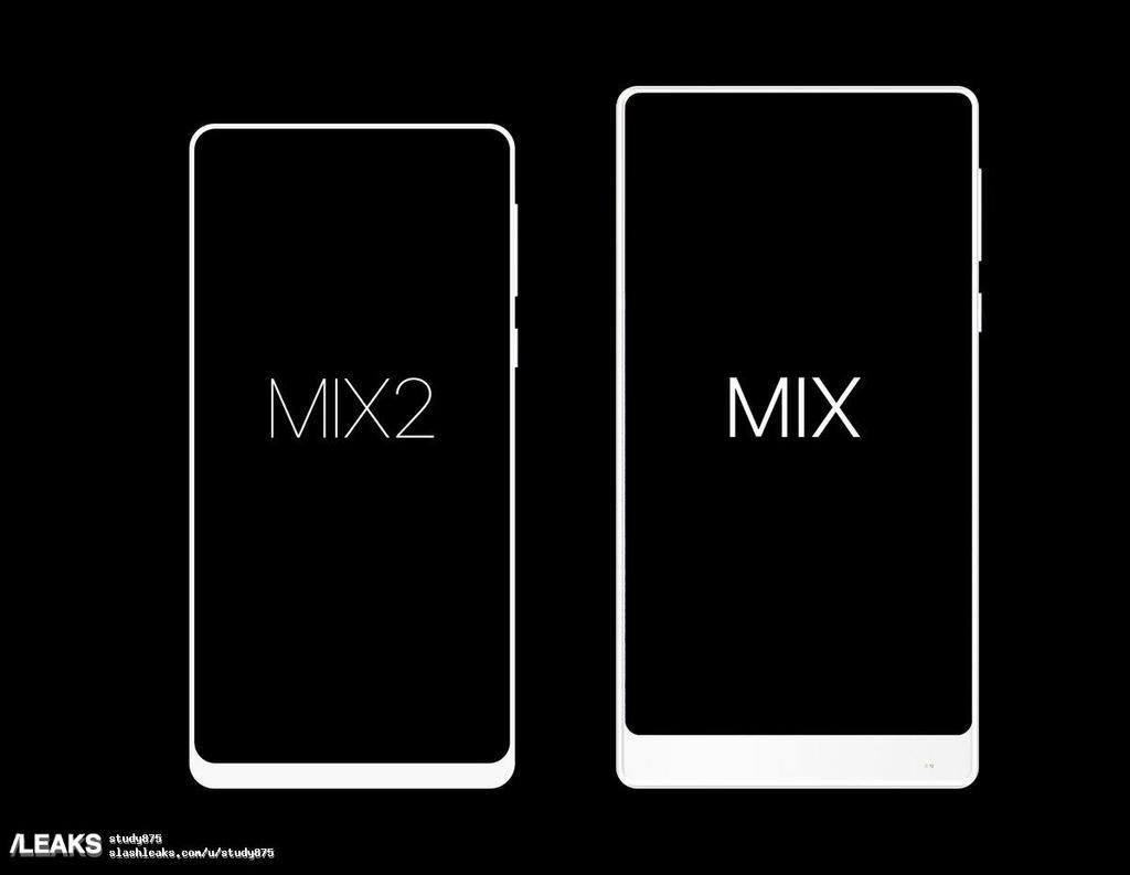 Tamaño comparativo de Mi Mix y Xiaomi Mi Mix 2