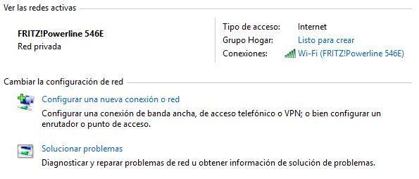 Opciones conexión WiFi en Windows 10