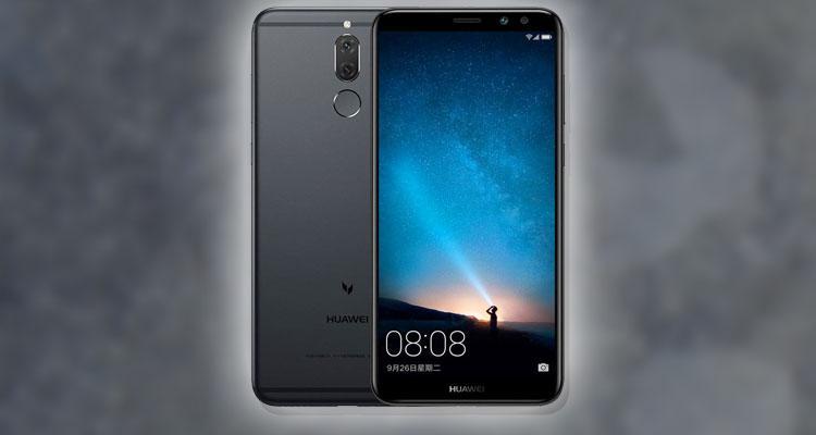 Teléfono Huawei Maimang 6 con fondo gris