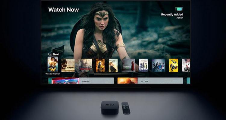 Apple TV 4K con televisor