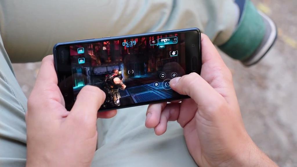 Ejecución de un juego en el Nokia 8