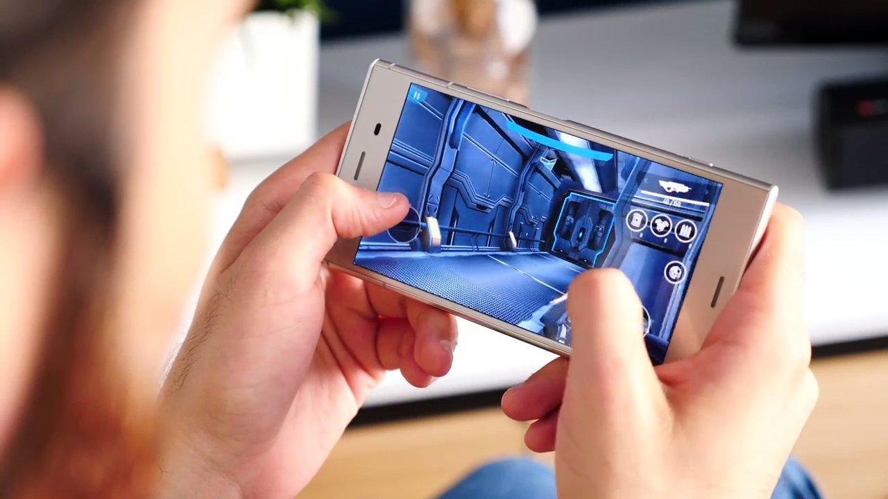 Ejecución de juego en el Sony Xperia XZ1