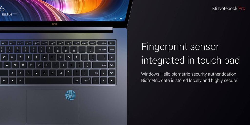 Lector de huellas del Xiaomi Mi Notebook Pro
