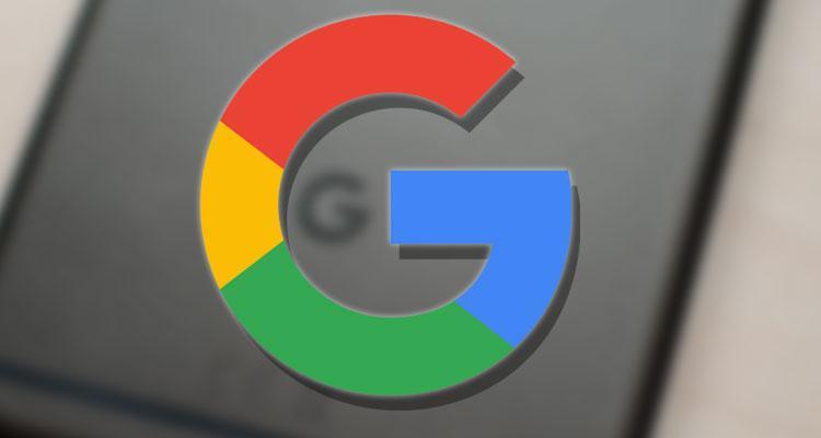 Logotipo de Google con fondo gris