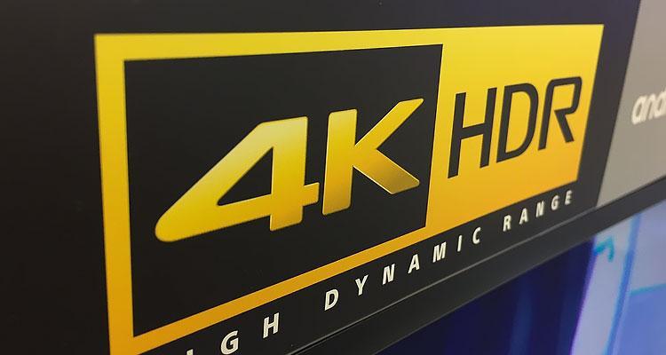 Smart TV con logotipo HDR