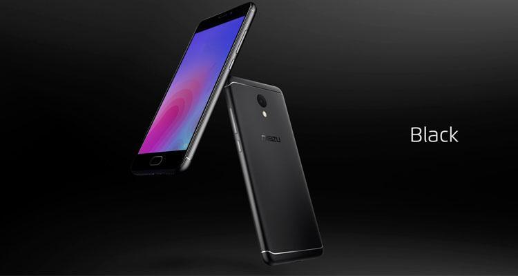 Teléfno Meizu M6 de color negro