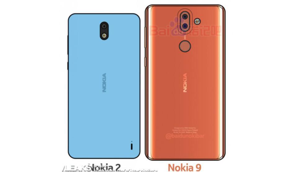 Diseño posterior de los Nokia 2 y Nokia 9