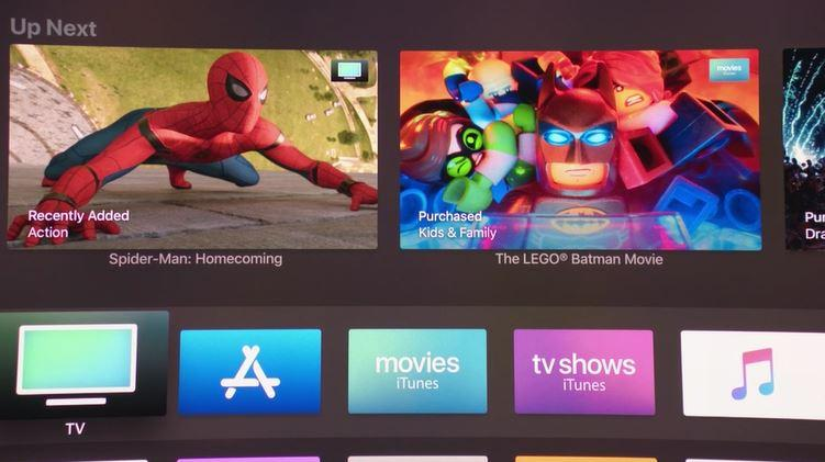 Interfaz de Apple TV 4K