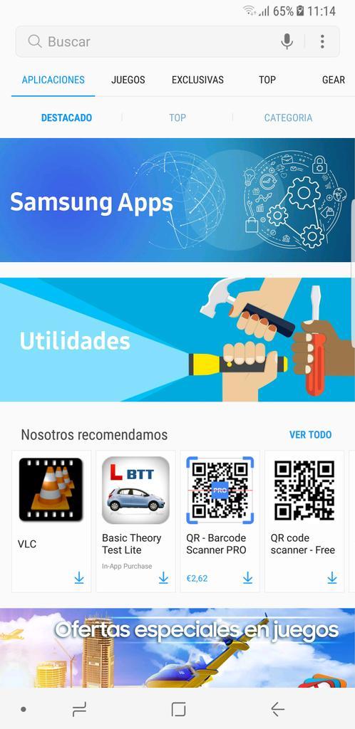 Galaxy Apps tienda de Samsung
