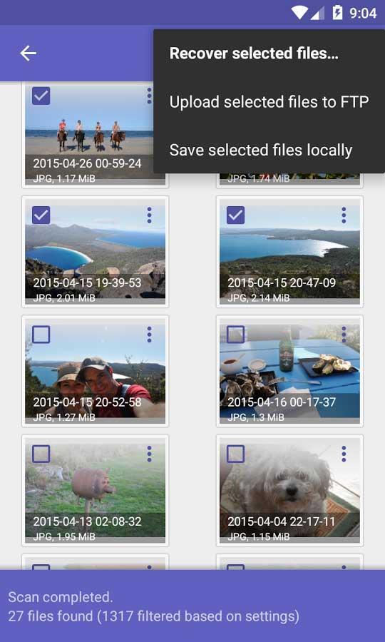 fotos borradas en el móvil