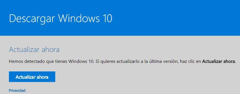 Forzar la actualización Windows 10 Fall Creators Update