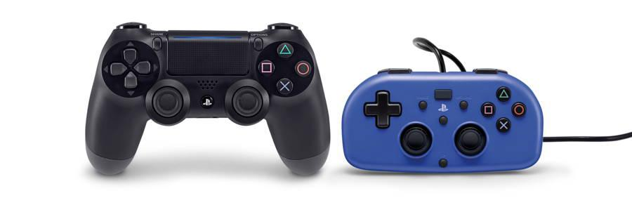 Mando Mini Wired Gamepad comparado con DualShock de Sony