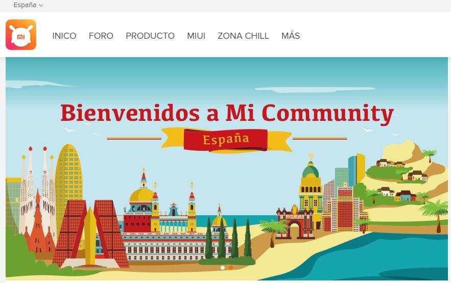 Web comunidad español Xiaomi