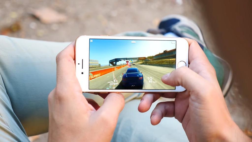 Ejecución de juego en el iPhone 8