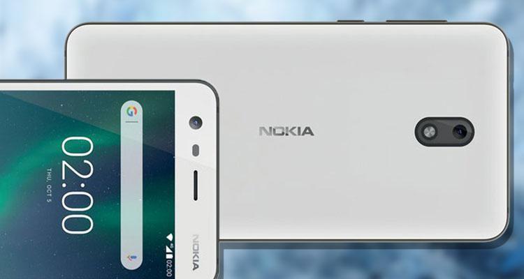 Imagen del Nokia 2 con fondo azul