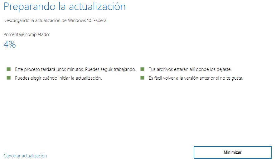 Descarga de Windows 10 Fall Creators Update