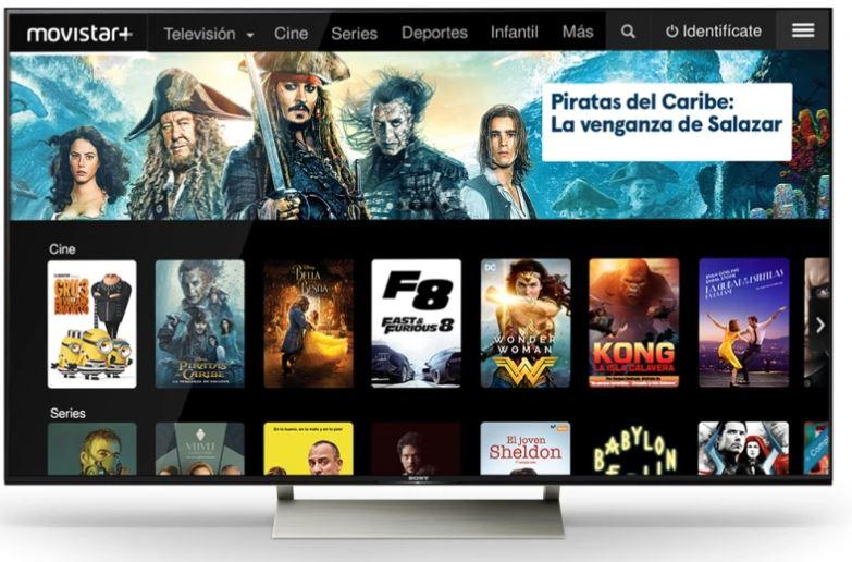 Televisor de Sony con Android TV y Movistar+