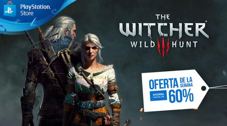 Oferta de The Witcher 3: Wild Hunt en PlayStation Store