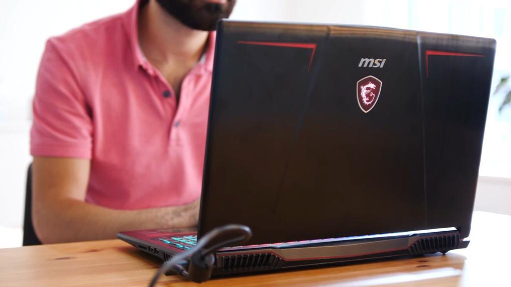 Uso del portátil MSI GE63VR