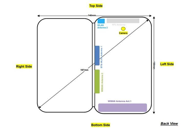 Esquema del ZTE Axon M en la entidad FCC