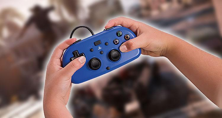 Mando para niños Mini Wired Gamepad compatible con PS4