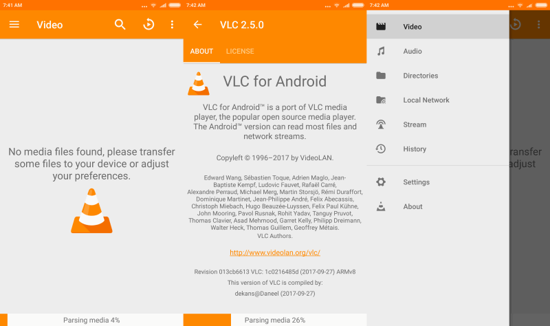 Nueva versión VLC 2.5