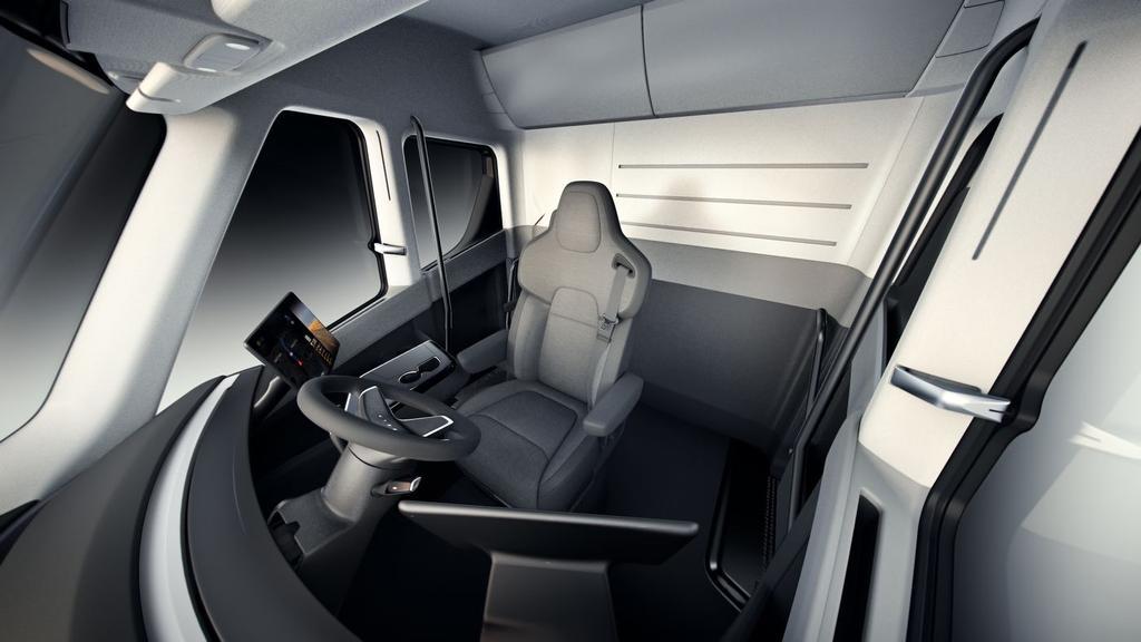Interior del Tesla Semi