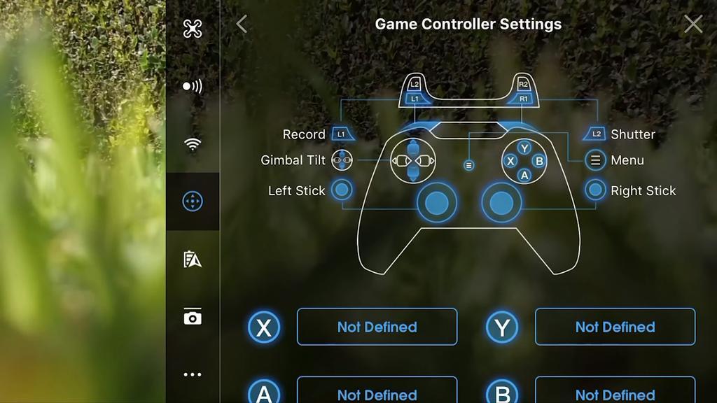 configuración de gamedevice en DJI Spark