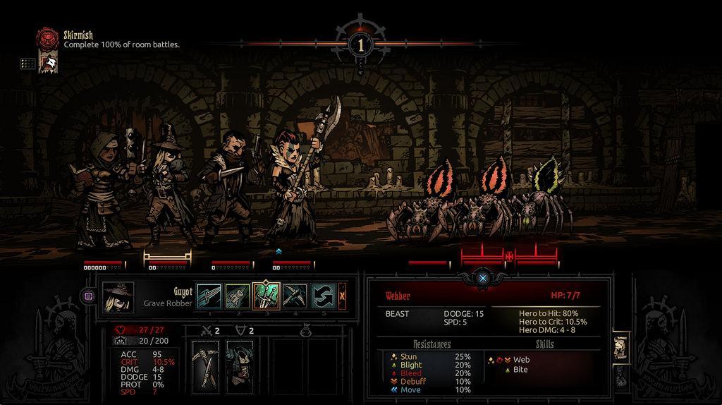 Juego Darkest Dungeon