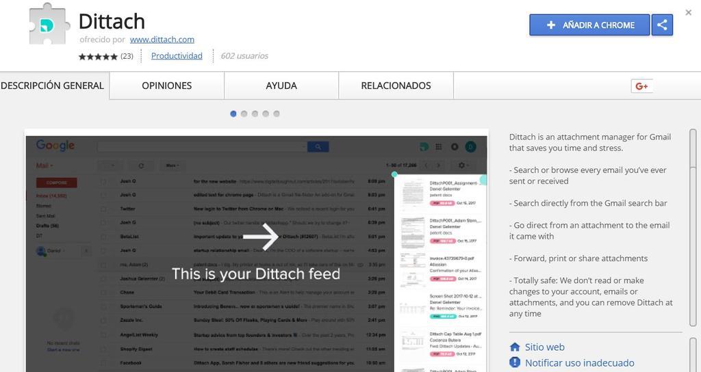 Descarga de Dittach para Gmail