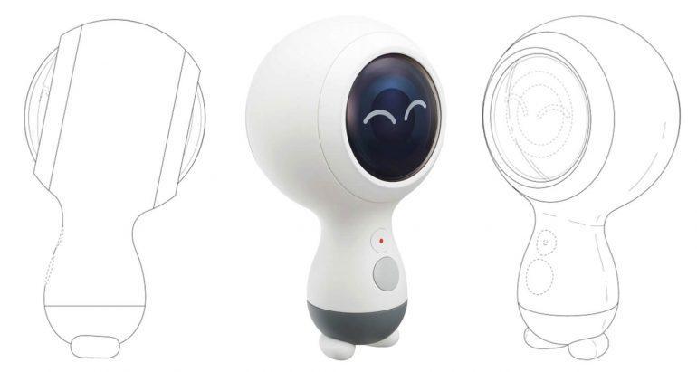 Diseño de la cámara Samsung Gear 260 2018