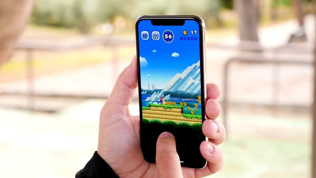 Ejecución de juego en el iPhone X