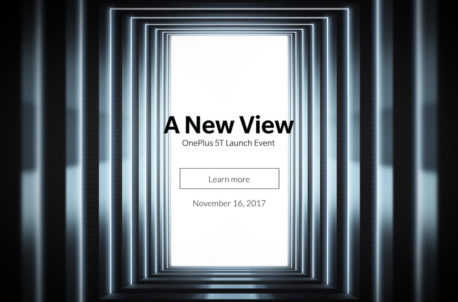 cartel de presentación OnePlus 5T