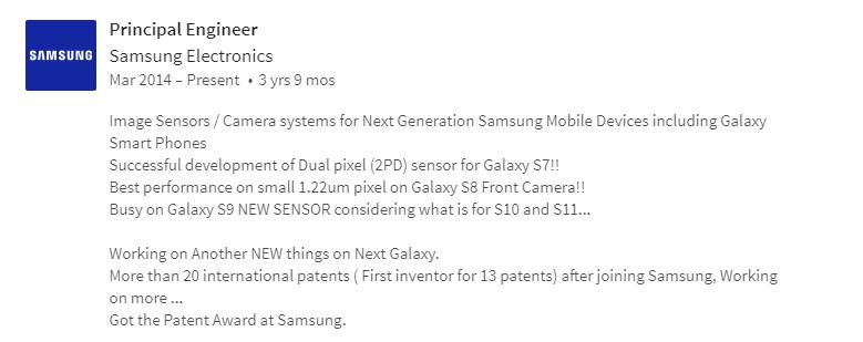 LinkedIn Samsung Galaxy S9